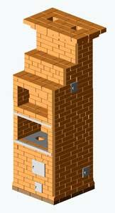 """Печь """"Шведка"""" на 2 этажа - 1 этаж"""
